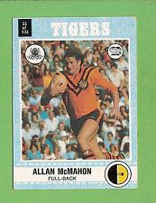 1977 SCANLENS RUGBY LEAGUE CARD   #22  ALLAN  McMAHON, BALMAIN TIGERS