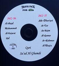 Al Quran Audio CD - 10 Surah's From Juz' 26 & 27 -by Qari- Sa'ad Al Ghamdi