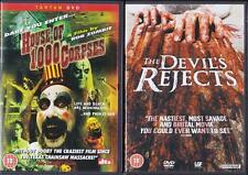 HOUSE OF 1000 CORPSES & THE DEVIL'S REJECTS Rob Zombie*Sid Haig Horror DVD *EXC