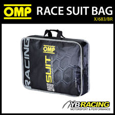 X/683/BR OMP RACING RACE SUIT CARRY BAG IN BLACK - GENUINE OMP MERCHANDISE!