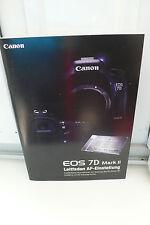 2015 Canon Eos 7d 7 D Mark II Guide prospectus catalogue Camera guide brochure!