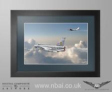 Framed 111 Squadron F.6 Lightning RAF Wattisham Digital Art Print