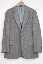 VTG Ralph Lauren Chaps Wool Tweed 3 Piece Suit 40R 34x31 Gray Red Plaid Vest