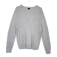 J Crew Men's Cashmere Top Crewneck Pullover Long Sleeve Sweater Gray L NWOT!!