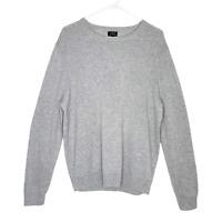 J Crew Men's Cashmere Top Crewneck Pullover Long Sleeve Sweater Gray L NWOT!!