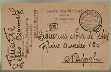 POSTA MILITARE 1^ DIVISIONE CAVALLERIA 29.10.1915 #XP240A