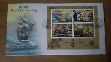 JERSEY 2014 PIRATES & PRIVATEERING MINISHEET FDC