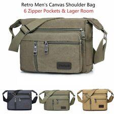 Retro Men's Canvas Shoulder Bag Messenger Bag Crossbody Satchel Travel Handbag