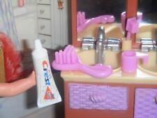 Barbie Crest Toothpaste Brush Lot D fits Fisher Price Loving Family Dollhouse