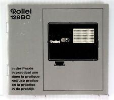 Rolleiflex Flash Unit Manual for Rollei 128 BC-German,English,French,Spanish,etc