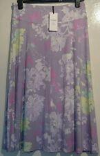 M & S classic skirt light purple multi coloured floral size 12 bnwt violet