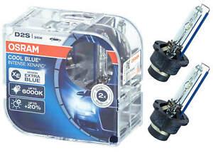 2x D2s Xenon Lampe Osram Xenarc Hid Scheinwerferlampe 6000K Cool Blue Intense