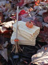 "Dollhouse Miniature Halloween Witch's Broom 1"" Scale 1:12 Fairy Garden Accessory"