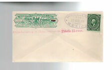 1879 Mexico Wells Fargo Express Mail Cover to 12 Centavos