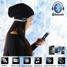 Women Men Beanie Hat Wireless Bluetooth Smart Soft Warm Headset Speaker PK