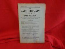LE PAYS LORRAIN & LE PAYS MESSIN-6e année 20/08/1909-Nº 8.