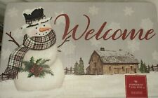 Snowman Barn Country Kitchen Indoor Accent Antifatigue Mat Rug 30x18in