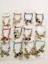 Wholesale 12 Pcs Lots Mix Colors Elephant Style Charm String Bracelet Bangle Set