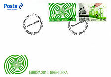 Faroe Islands Faroes 2016 Fdc Europa Think Green 2v Set Cover Bicycles Stamps