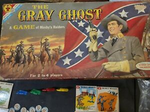 """1958 """"THE GRAY GHOST"""" Tod Andrews Original TRANSOGRAM BOARD GAME Complete In BOX"""