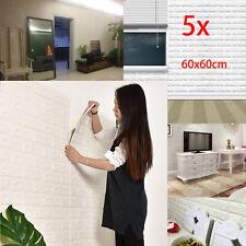 5Tlg 3d Tapete Wandpaneele Selbstklebend Ziegelstein Wasserdicht Wandaufkleber