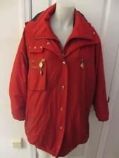 WOMENS DONNA KARAN RED 100% CASHMERE HOODED COAT SIZE SMALL