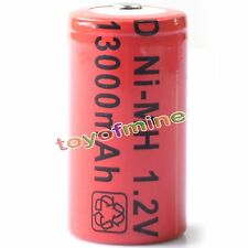 1 x D size 13000mAh Rechargeable Battery Ni-MH 1.2v New