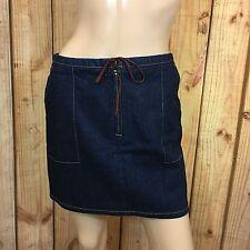 Guess Stretch Denim Blue Jeans Pencil Skirt Front Zipper Size 28
