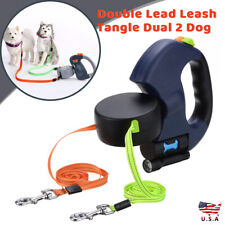 Double-headed Automatic Retractable Dog Lead Leash For Small Medium Dogs Running