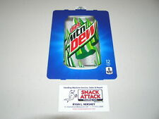 "Dixie Narco 501E & 276Hv Soda Vending Machine ""Diet Mountain Dew"" Can Vend Label"