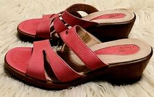 DANSKO Womens Avril Dusty Rose Leather Platform Wedge Sandal SIZE 10 New No Tags