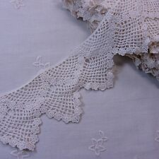 Antique Style scalloped Embroidery Cotton Crochet Lace Trim 6cm Wide 1Yd