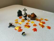 Department 56 Halloween Village Grouping #22 HayBales, Leaves Etc Free Shipping