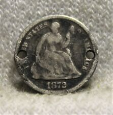 1872 seated half dime necklass coin