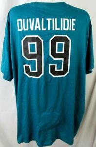 """Jacksonville Jaguars Big Men 5X-Large """"DUVAL TIL I DIE"""" #99 T-shirt AJJS 164"""