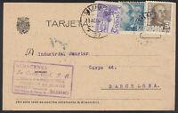 TARJETA POSTAL CON MATASELLOS DE SALAMANCA. SELLOS Nº 924-1020 Y 1062