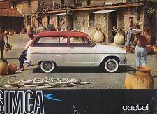 Simca Castel Chatelaine Messagere Intendante c. 1962 Original UK Brochure Aronde