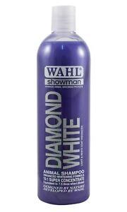 WAHL SHOWMAN DIAMOND WHITE SHAMPOO HORSE  AND PONY FREEPOST