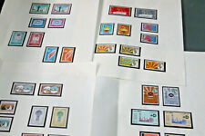 KUWAIT - 1967/8 - UNMOUNTED MINT COLLN ON LEAVES - ALL 16 COMMEMORATIVE SETS
