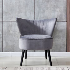 Accent Chairs Sofa Chair Living Room Bedroom Thicken The Mat Wing Back Grey New