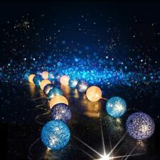 Cotton Balls Light Chain Christmas Decorations Outdoor String Garland LED Ball