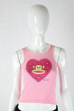 Paul Frank Small $29 Ladies Pink Sparkle Doily Julius Youth Tank Top 542600003I