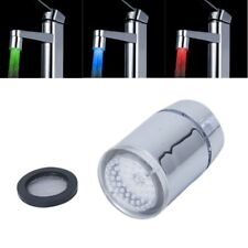 Tri-color LED Temperature Sensor Spray Faucet Water Tap W2U7
