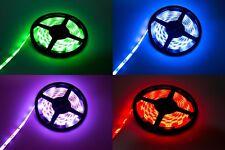 LED Strip RGB Streifen 5 Meter 30 LED pro Meter Netzteil Trafo mit Fernbedienung