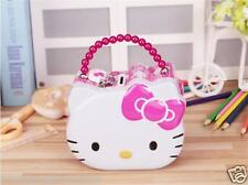 New Pink Anime Lovely Hellokitty Portable Piggy bank With Lock Jewelry Box Gift