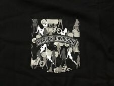 Harley Davidson Sexy Silhouette Front Pocket Black Shirt Nwt Men's XXXL