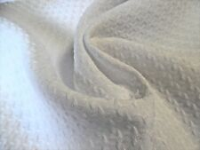 """Cotton Blend Matelasse Suiting~Bright White~18""""x29""""~D oll Fabric"""