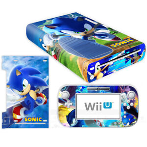 Sonic the Hedgehog Vinyl Skin Decals Sticker Nintendo Wii U Console Controller