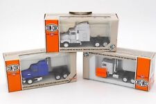 HERPA CON-COR HO 1/87- 3 x CAMIONS US FREIGHTLINER MACK KENWORTH AVEC BOITES