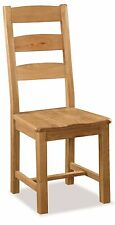 Zelah Oak Slat Back Dining Chair with Solid Wood Seat / Waxed Oak Dining Chair